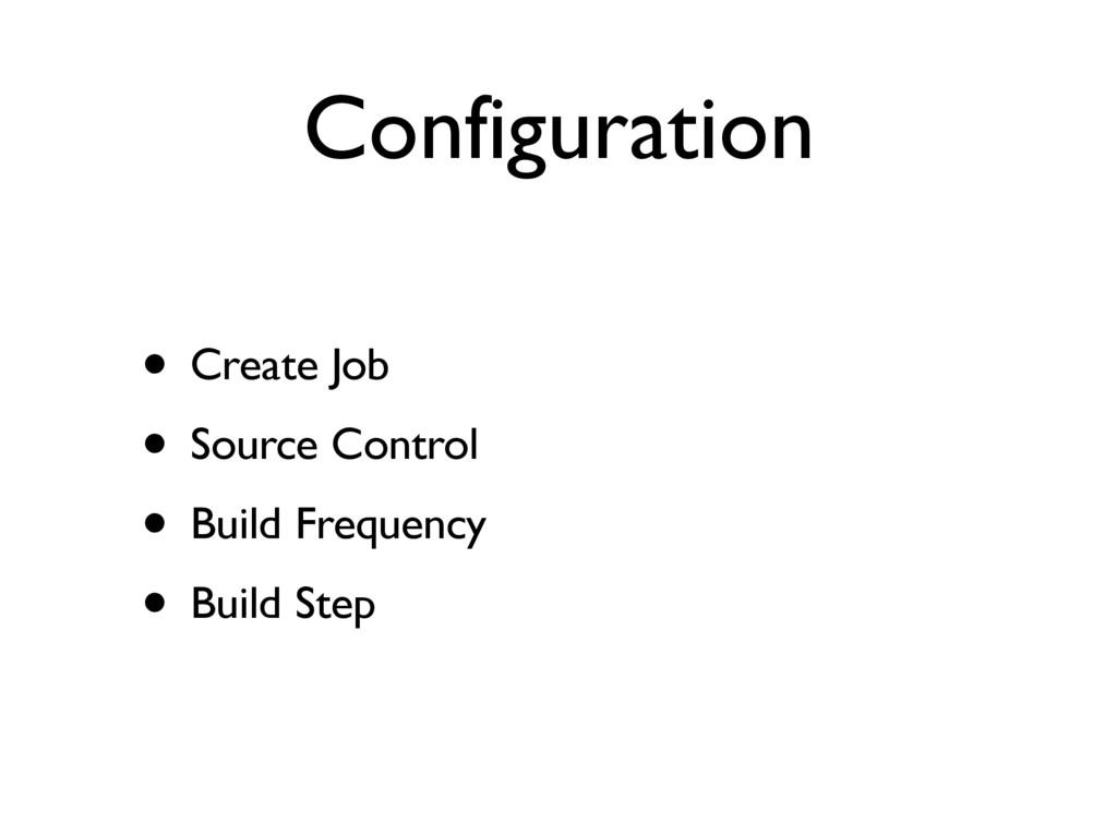 Configuration • Create Job • Source Control • B...