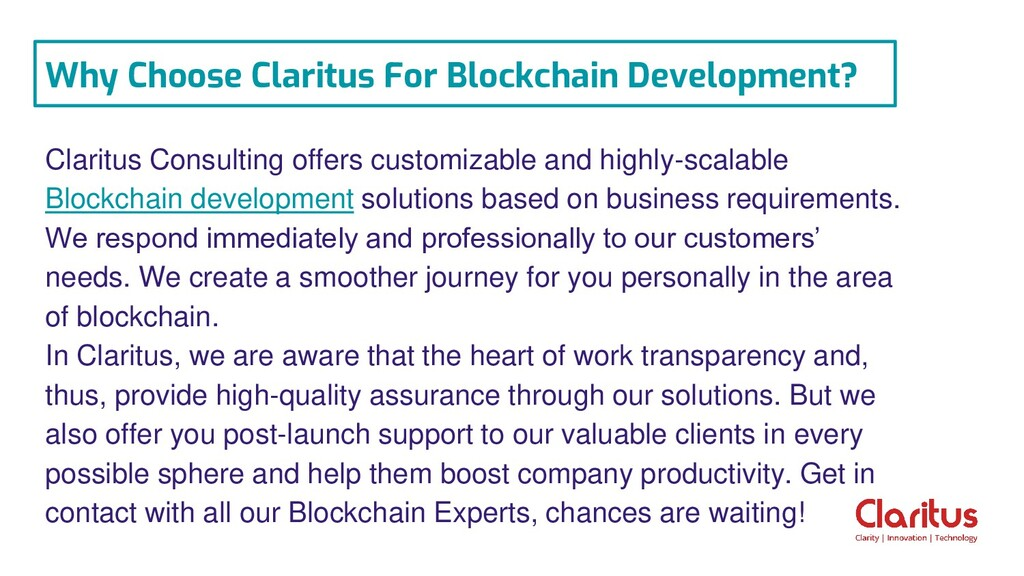 Claritus Consulting offers customizable and hig...
