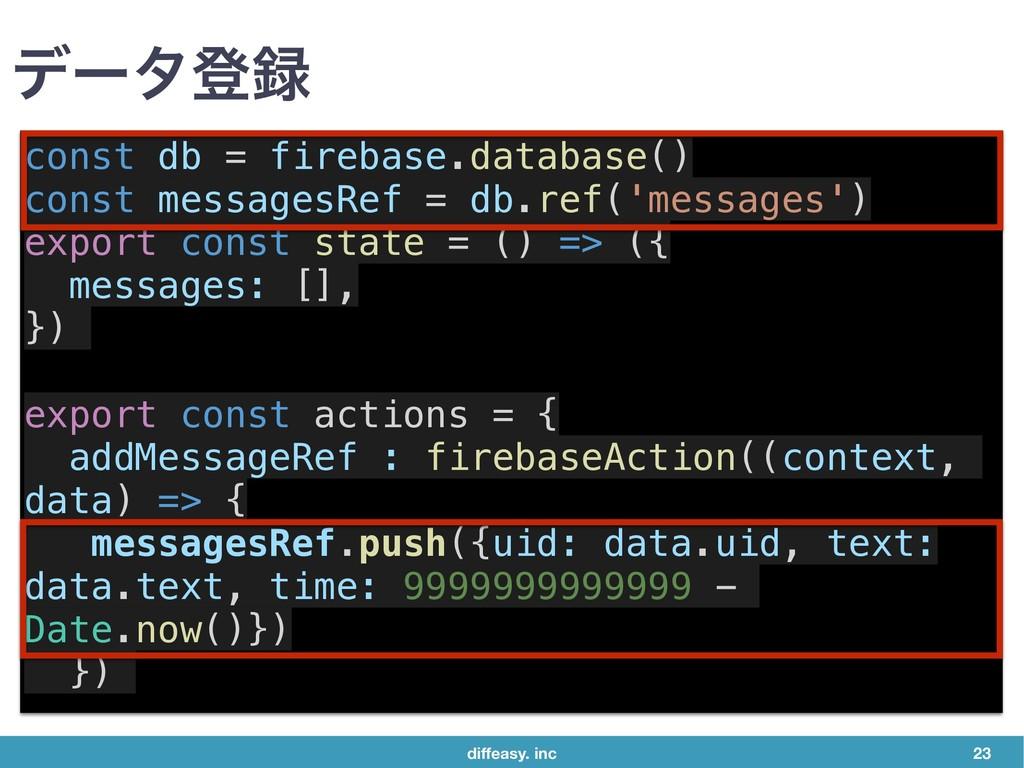 diffeasy. inc 23 σʔλొ const db = firebase.datab...