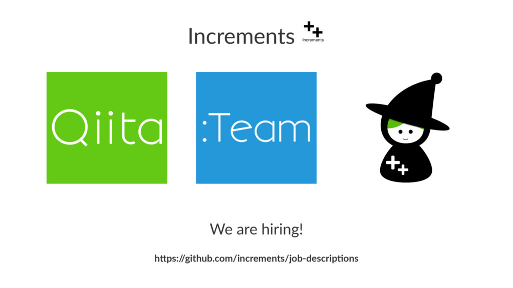 "Increments We are hiring! h""ps:/ /github.com/in..."