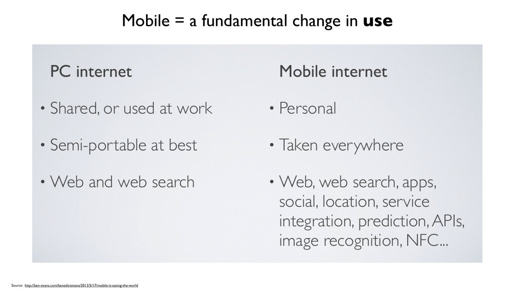 Mobile = a fundamental change in use Source: ht...