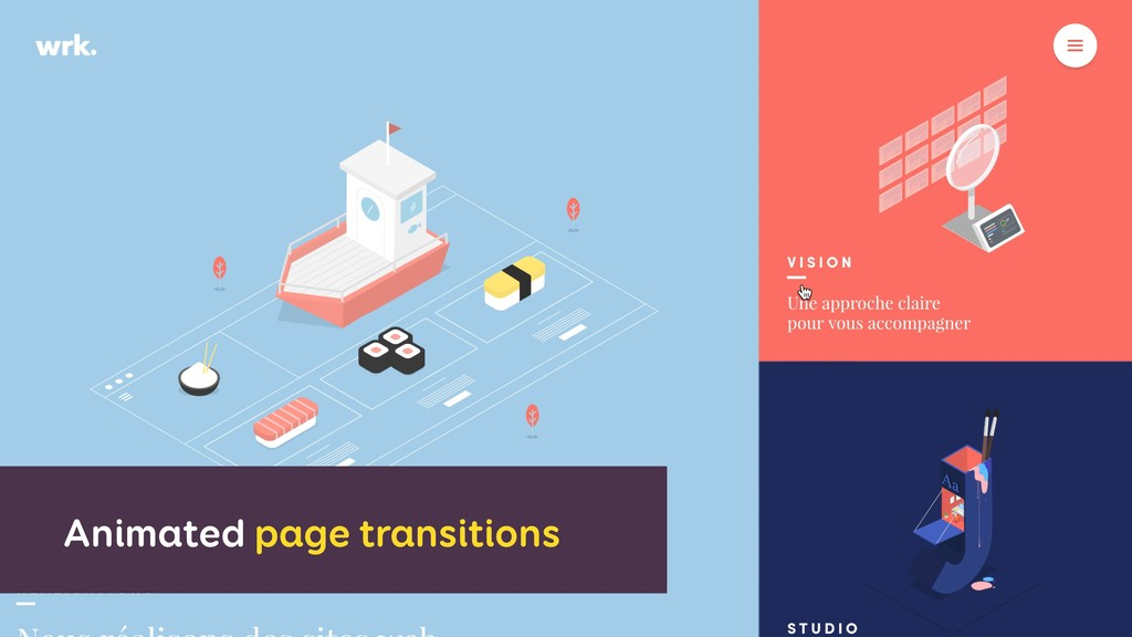 Animated page transitions