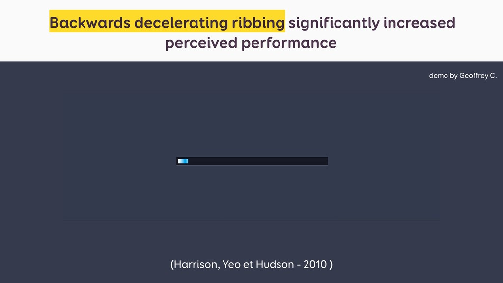 Backwards decelerating ribbing significantly in...