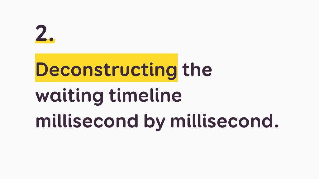 Deconstructing the waiting timeline millisecond...