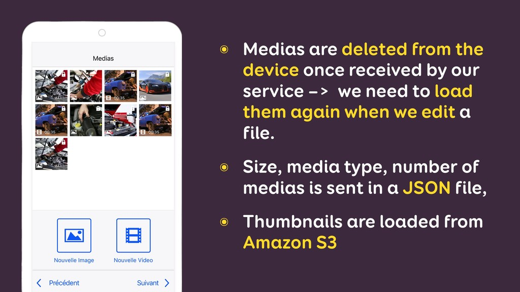 ๏ Medias are deleted from the device once recei...