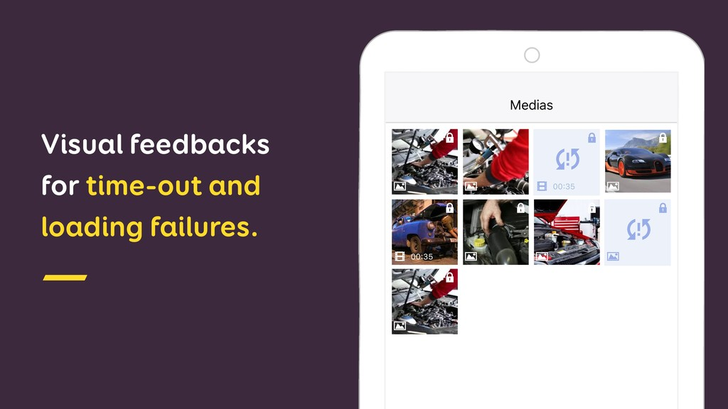 Visual feedbacks for time-out and loading failu...