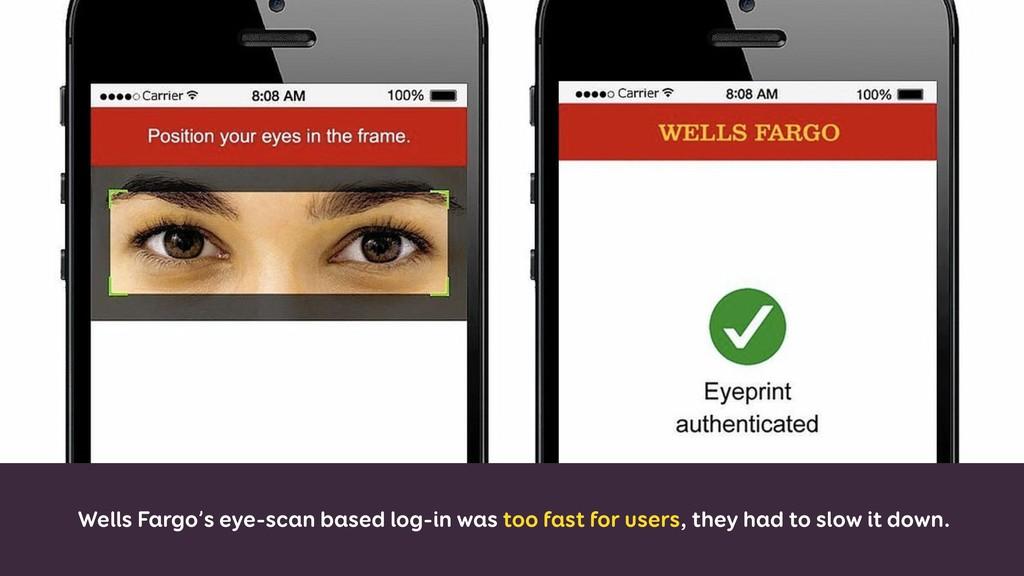 Wells Fargo's eye-scan based log-in was too fas...