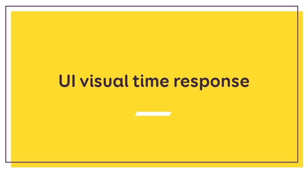 UI visual time response