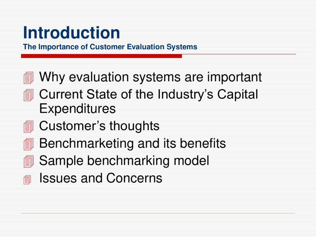 Introduction The Importance of Customer Evaluat...
