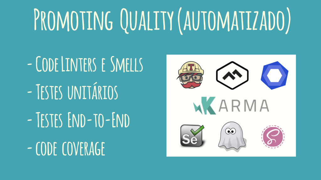 Promoting Quality (automatizado) - Code Linters...