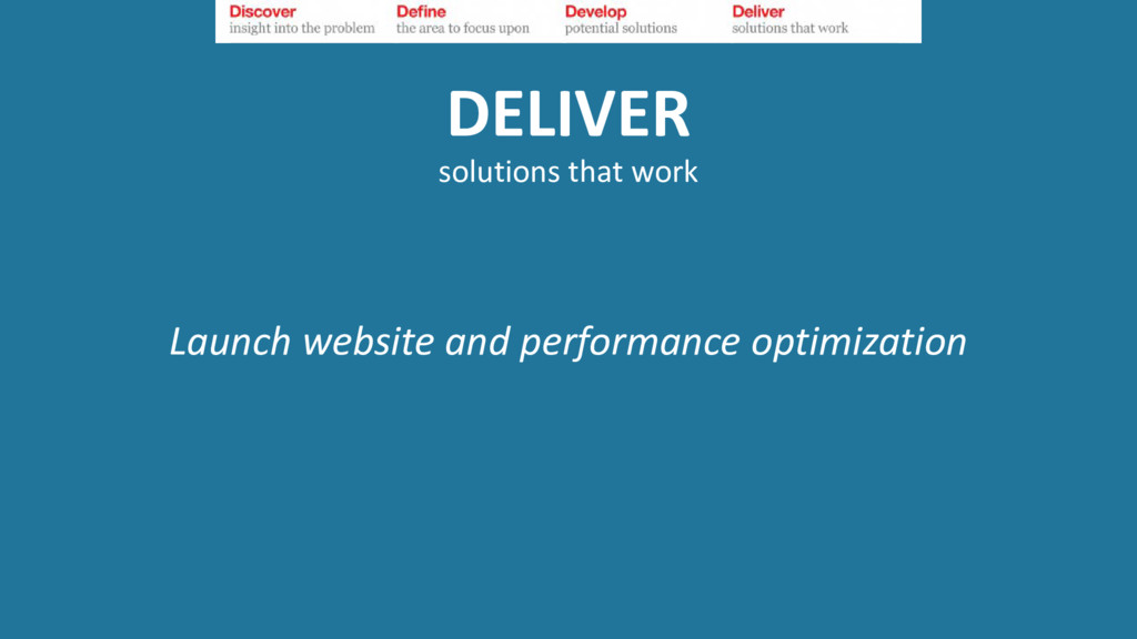 DELIVER solutions that work Launch website and ...