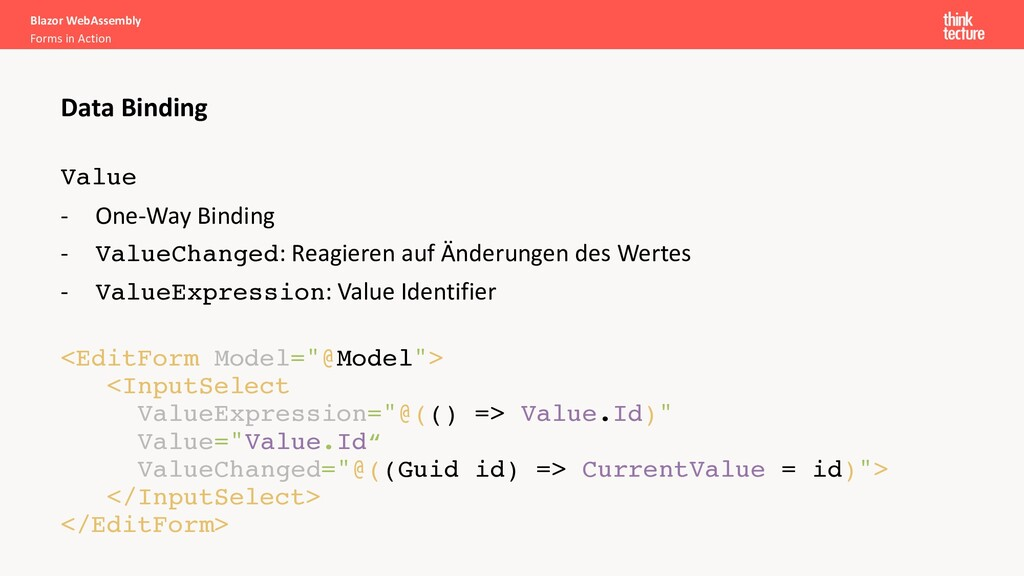 Blazor WebAssembly Forms in Action Data Binding...