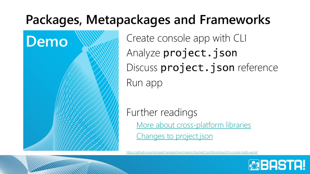 Demo Packages, Metapackages and Frameworks Crea...