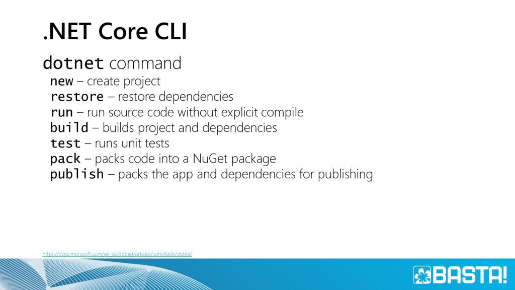 .NET Core CLI dotnet command new – create proje...