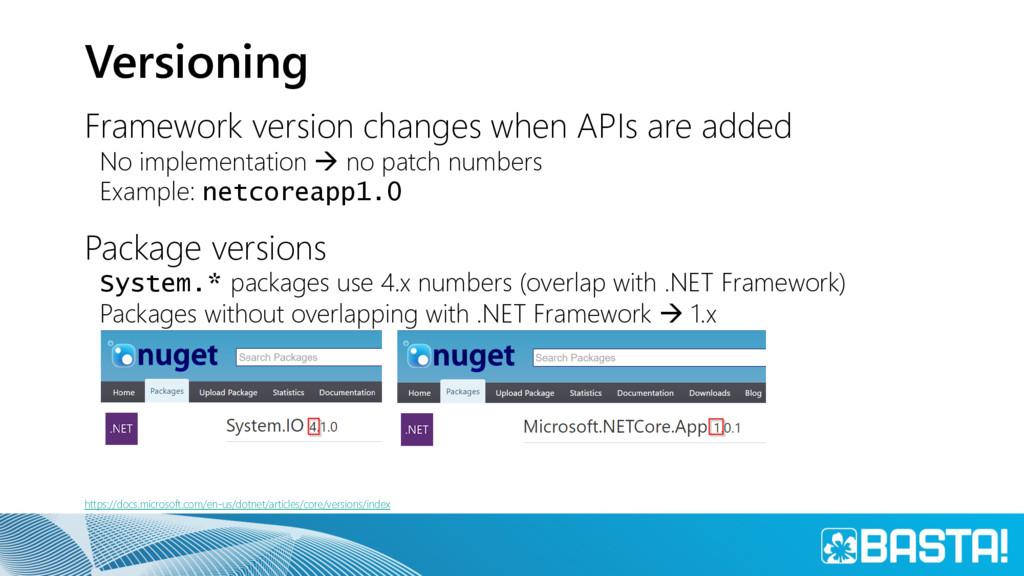 Versioning Framework version changes when APIs ...