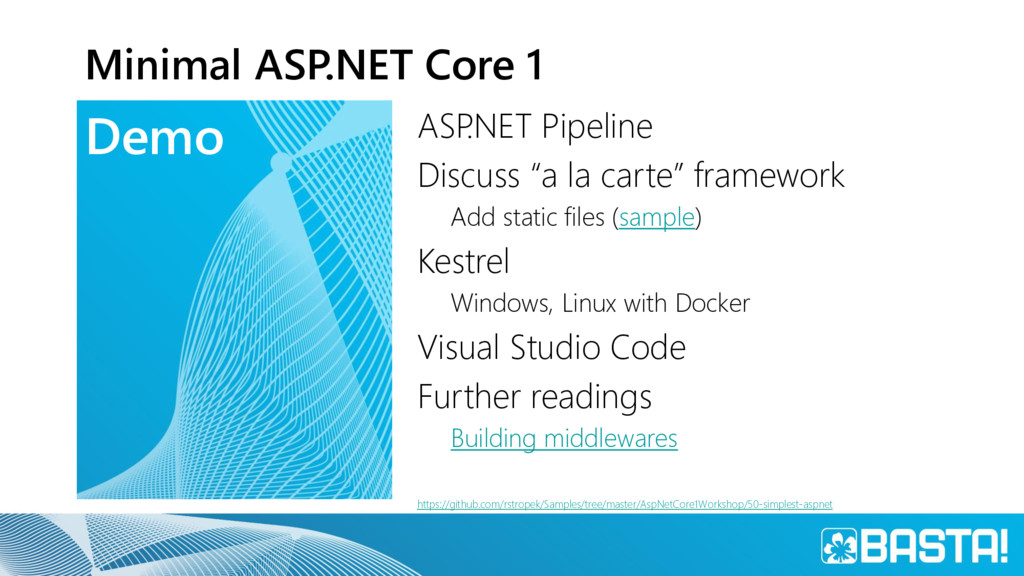 Demo Minimal ASP.NET Core 1 ASP .NET Pipeline D...
