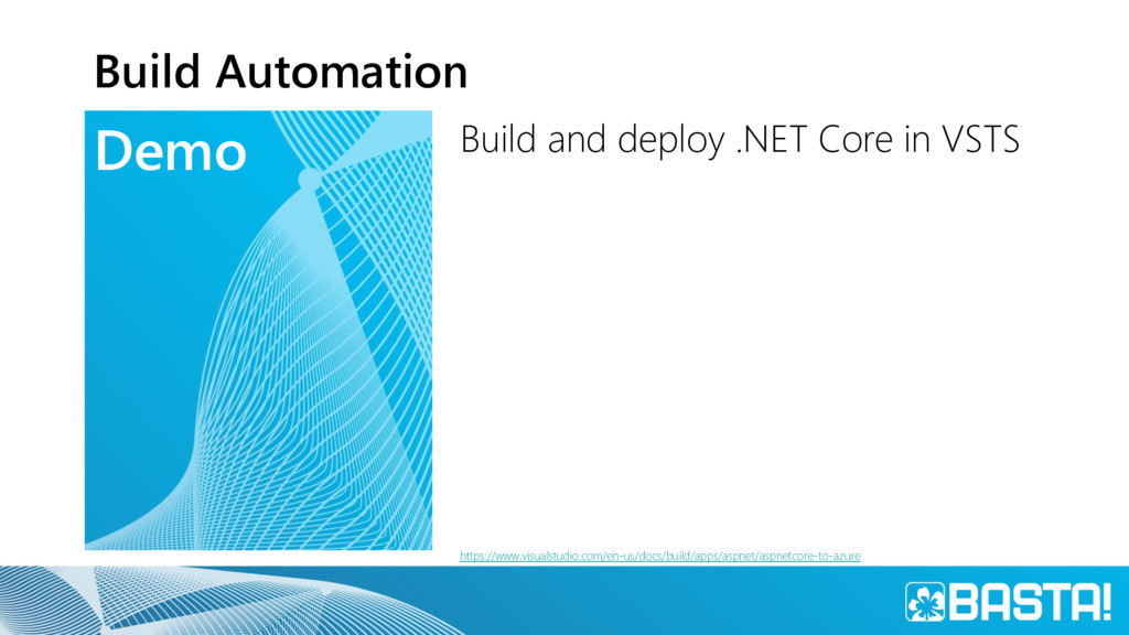 Demo Build Automation Build and deploy .NET Cor...