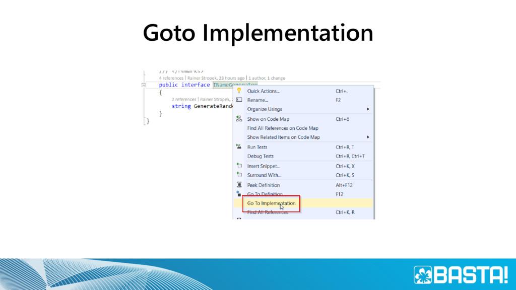 Goto Implementation