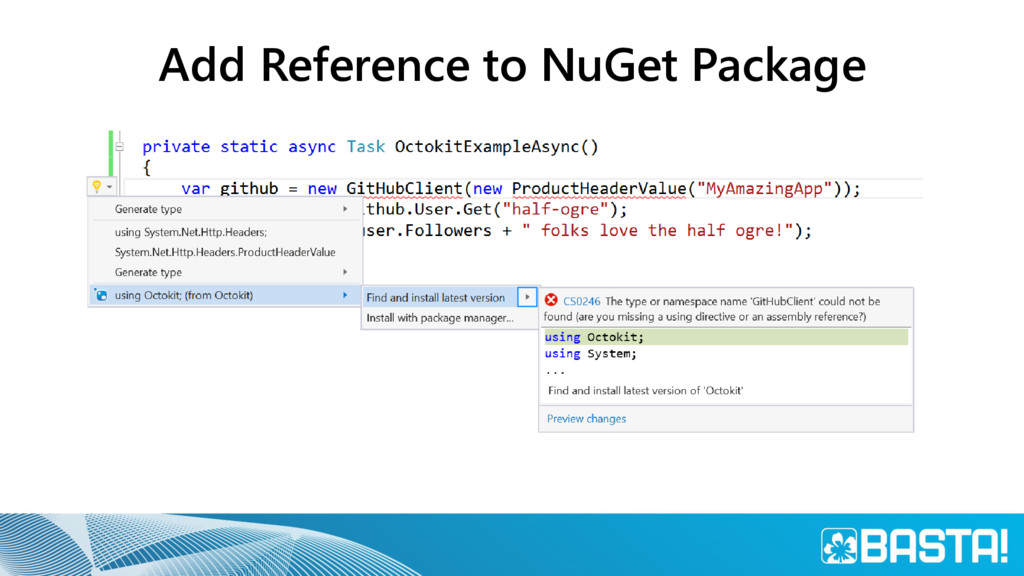 Add Reference to NuGet Package