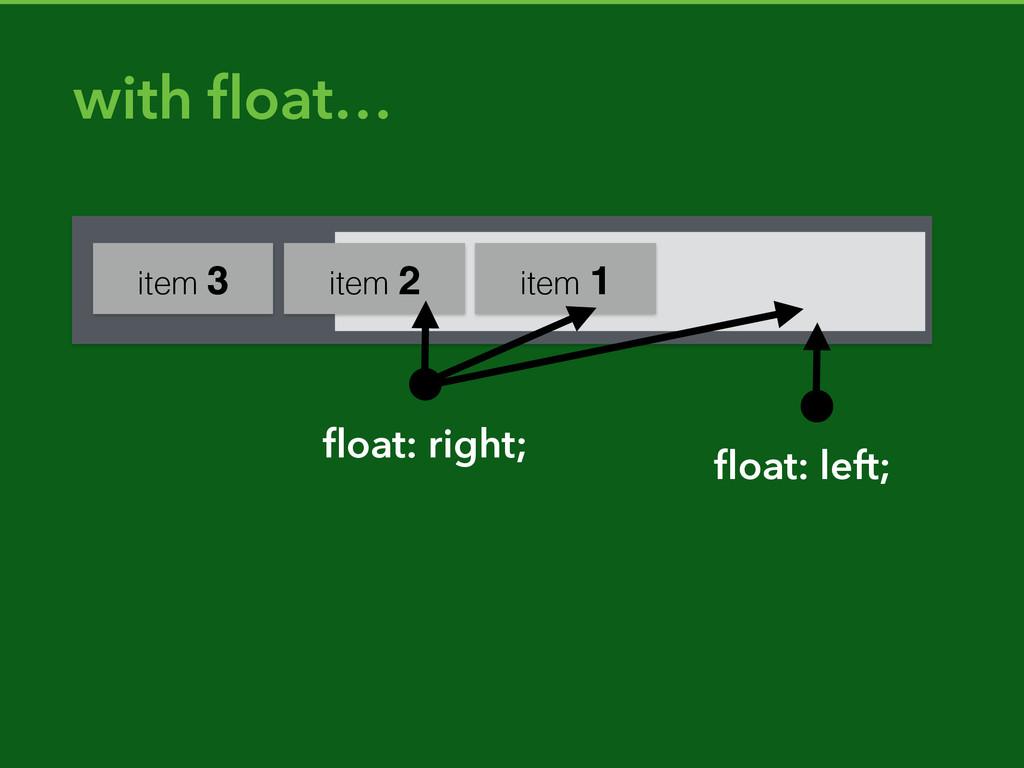 item 3 item 2 item 1 with float… float: right; flo...