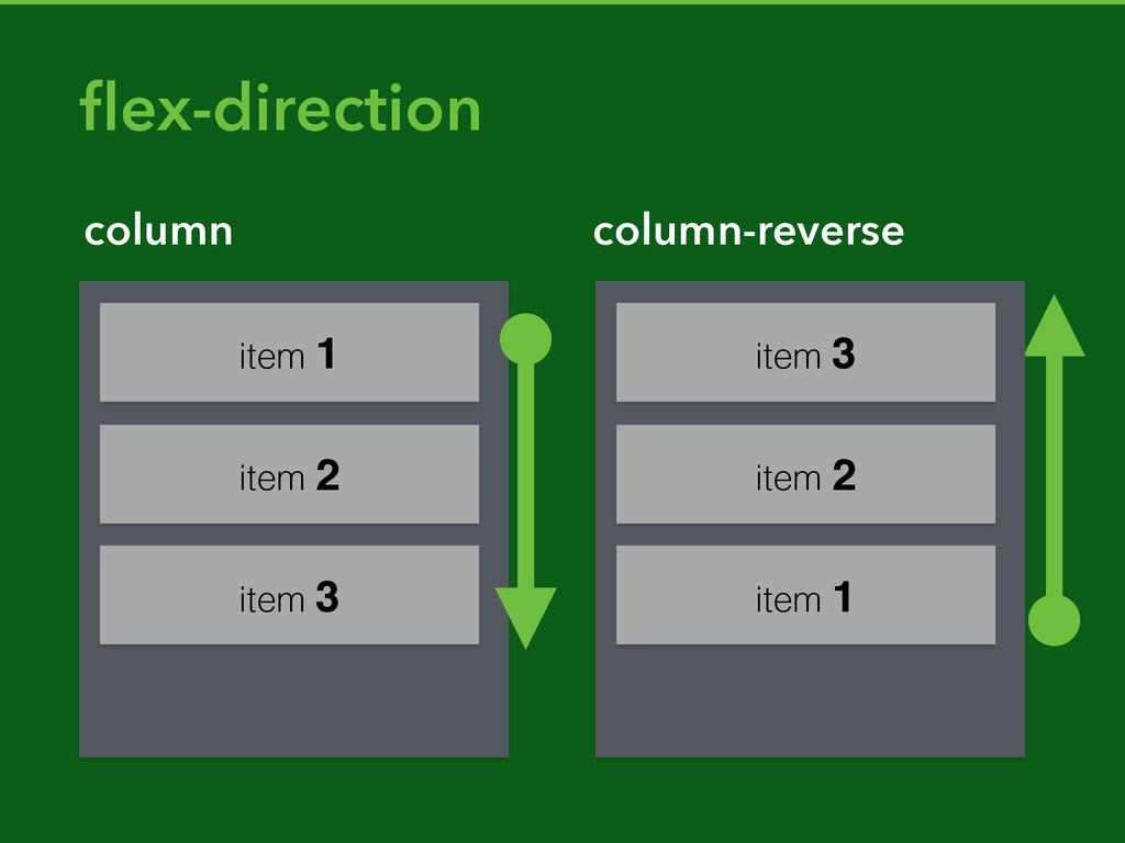 item 3 column column-reverse flex-direction item...