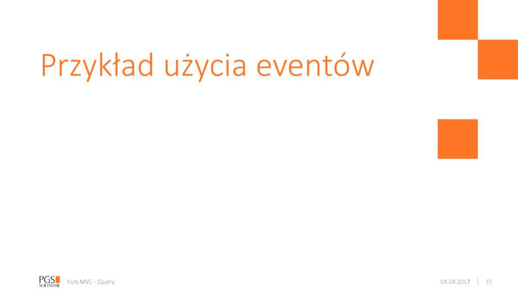 Przykład użycia eventów Kurs MVC - jQuery 04.04...