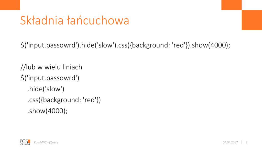 $('input.passowrd').hide('slow').css({backgroun...