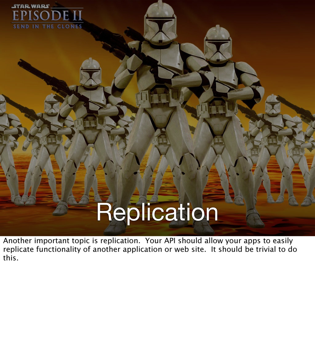 Replication Another important topic is replicat...