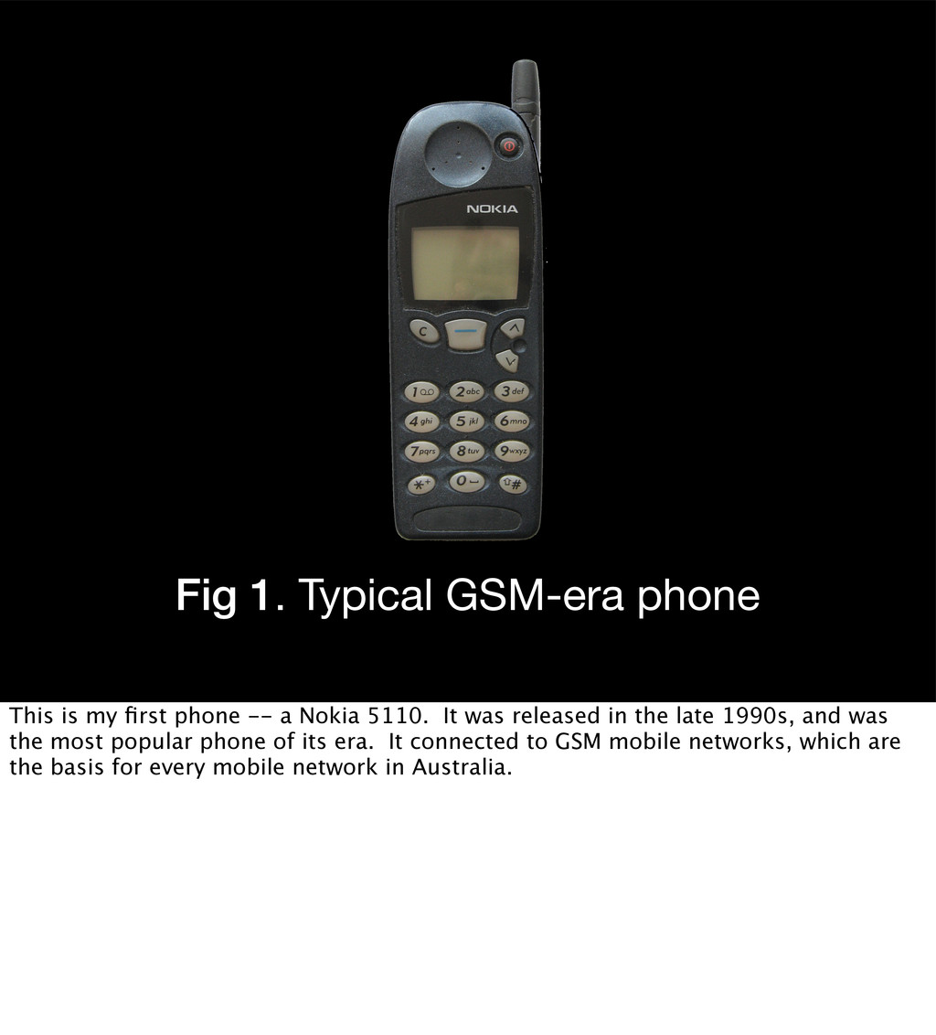 Fig 1. Typical GSM-era phone This is my first ph...