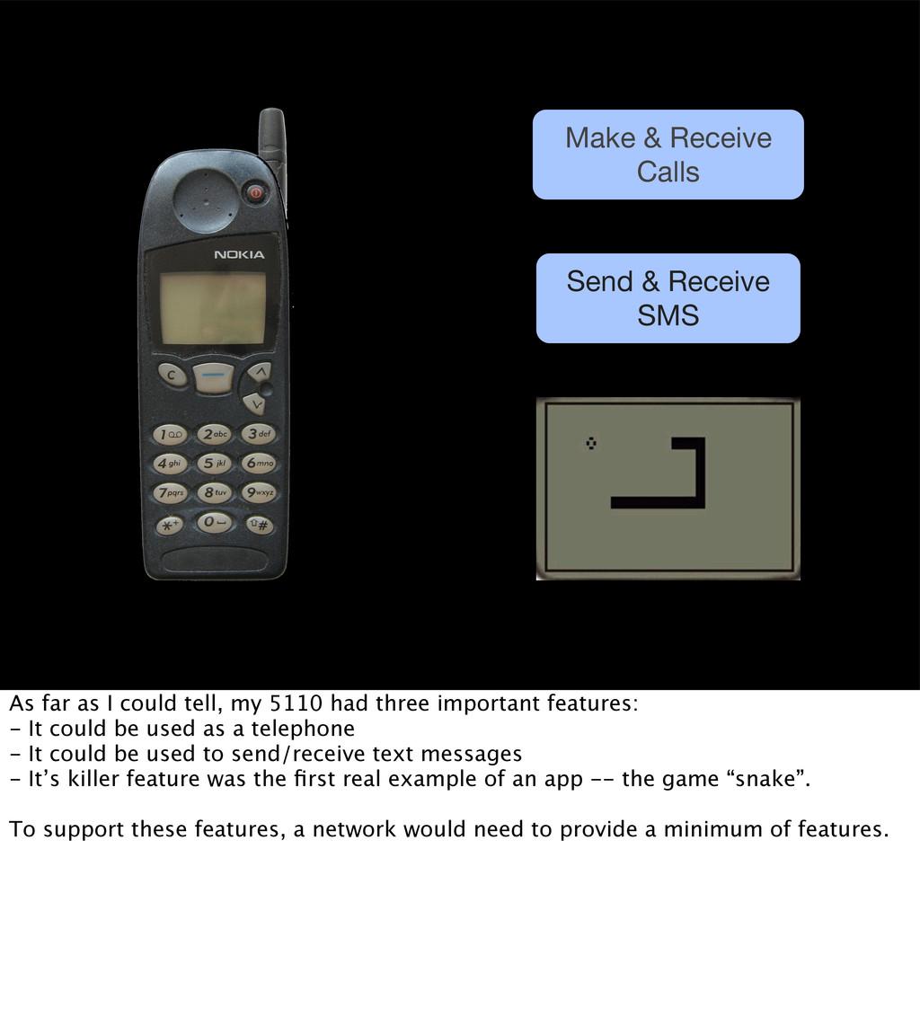 Make & Receive Calls Send & Receive SMS As far ...