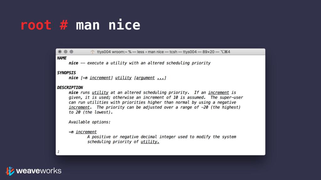 root # man nice