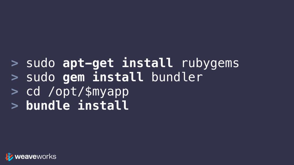 > sudo apt-get install rubygems > sudo gem inst...