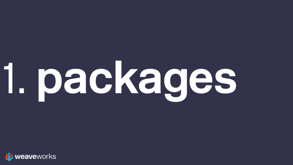 1. packages