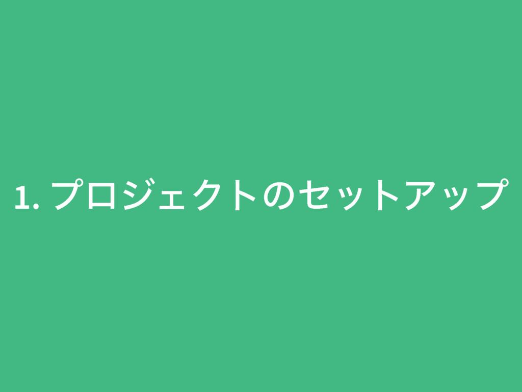 1. ϓϩδΣΫτͷηοτΞοϓ