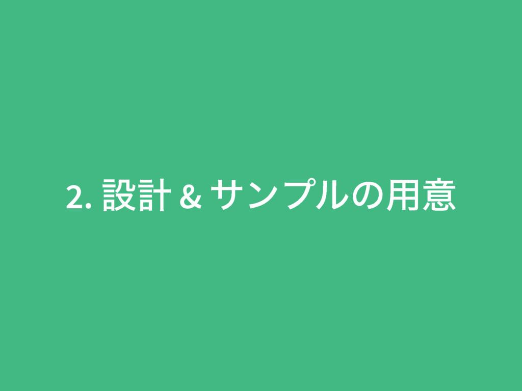 2. ઃܭ & αϯϓϧͷ༻ҙ