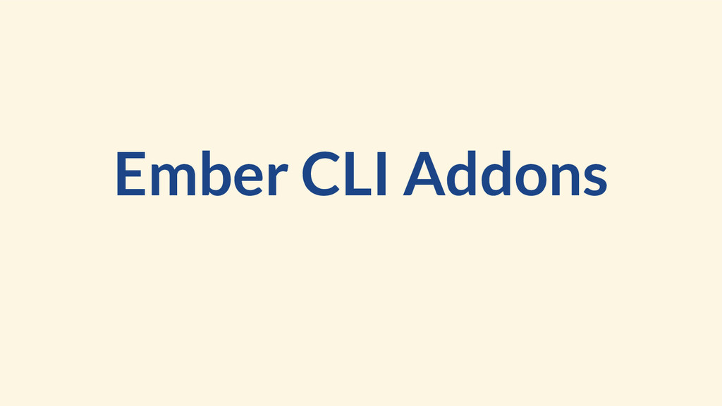 Ember CLI Addons