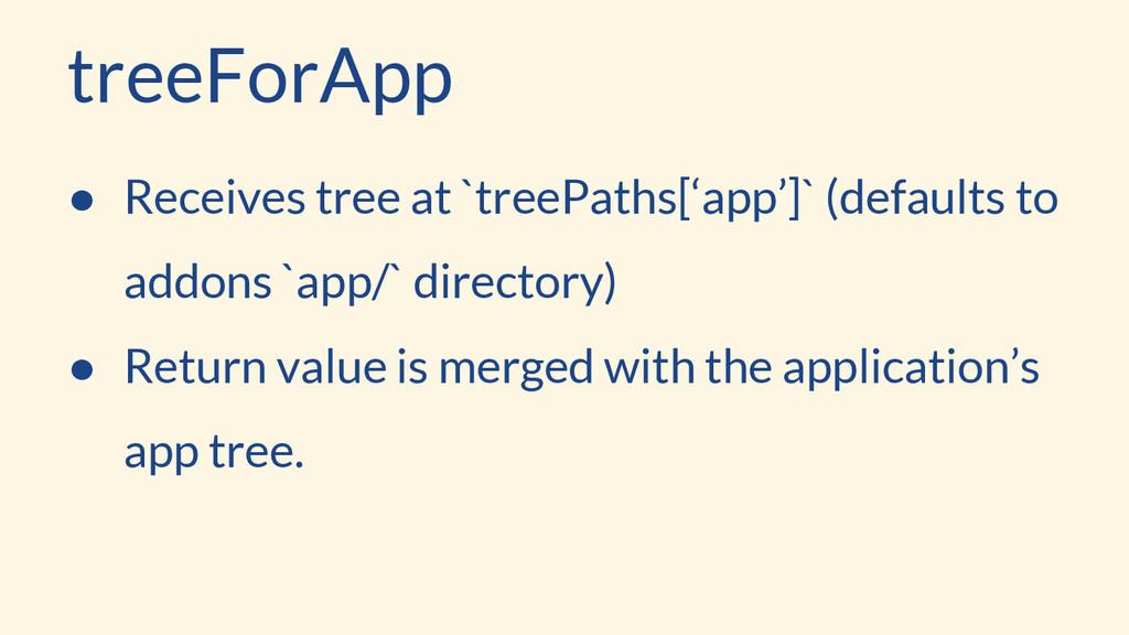 treeForApp ● Receives tree at `treePaths['app']...