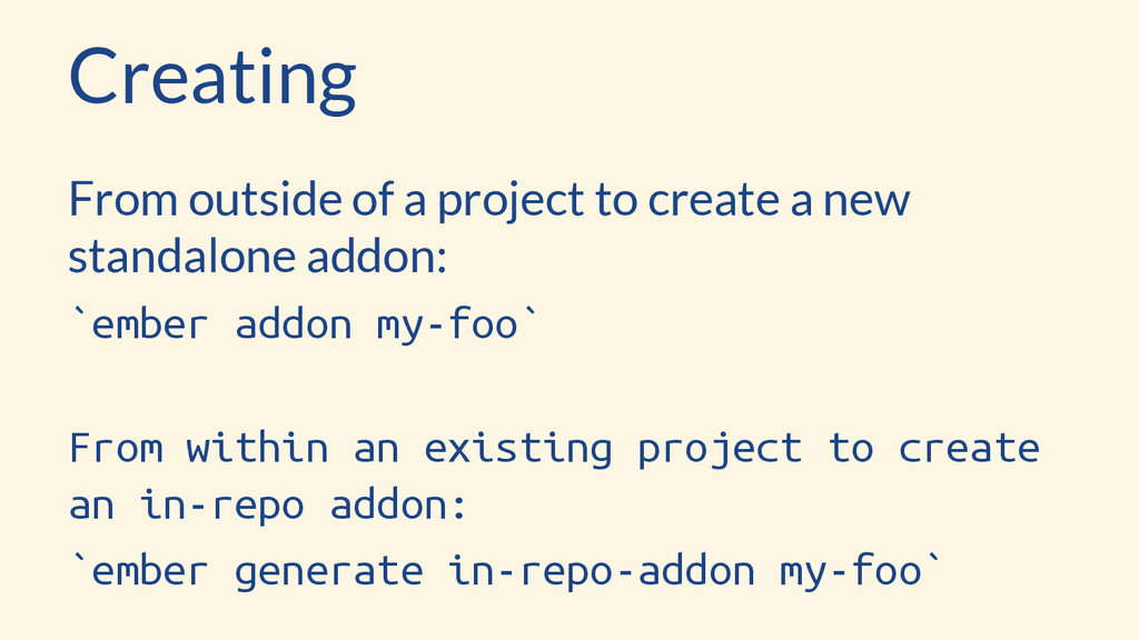 Creating From outside of a project to create a ...
