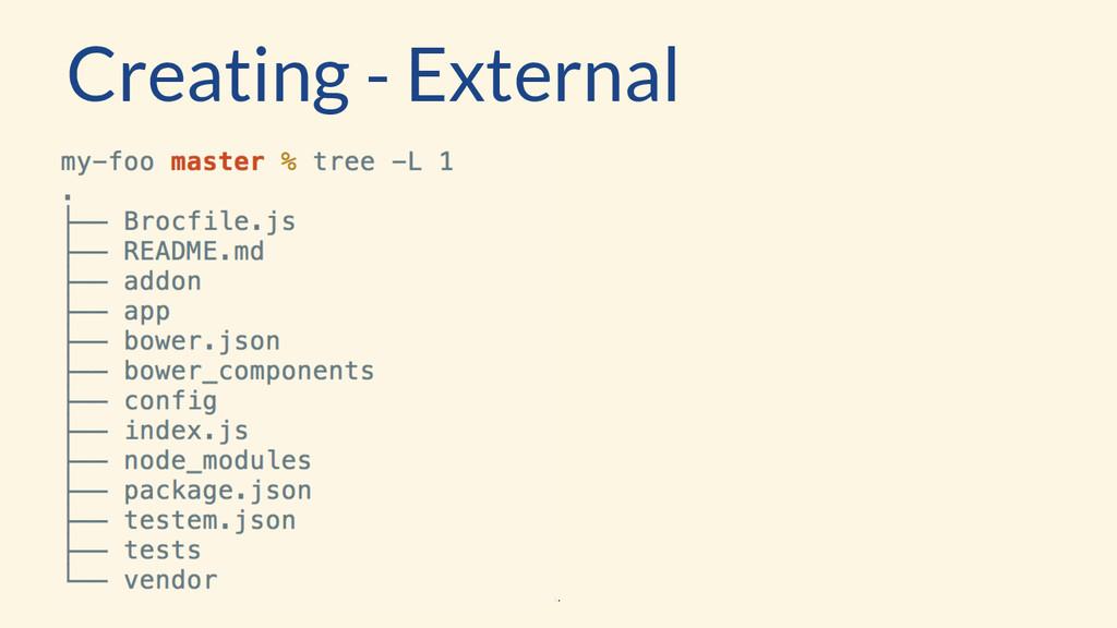 Creating - External