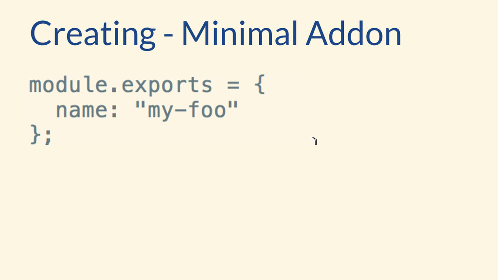 Creating - Minimal Addon