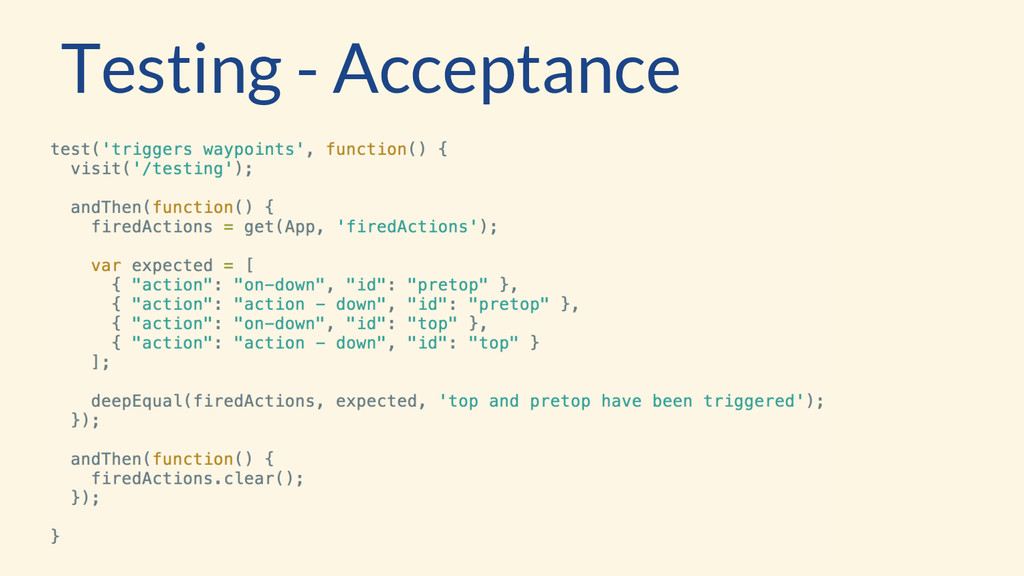 Testing - Acceptance