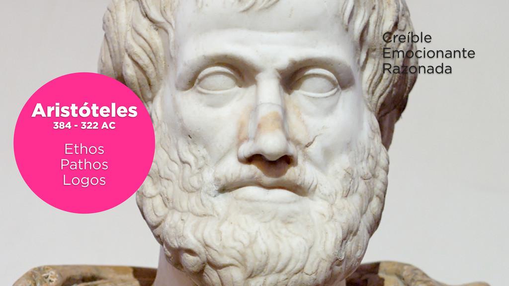 Aristóteles 384 - 322 AC Ethos Pathos Logos Cre...