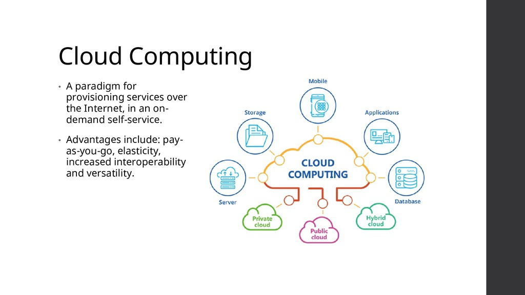 Cloud Computing • A paradigm for provisioning s...