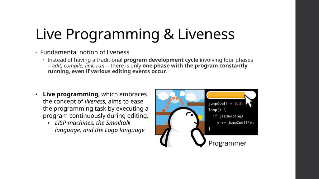 Live Programming & Liveness • Fundamental notio...