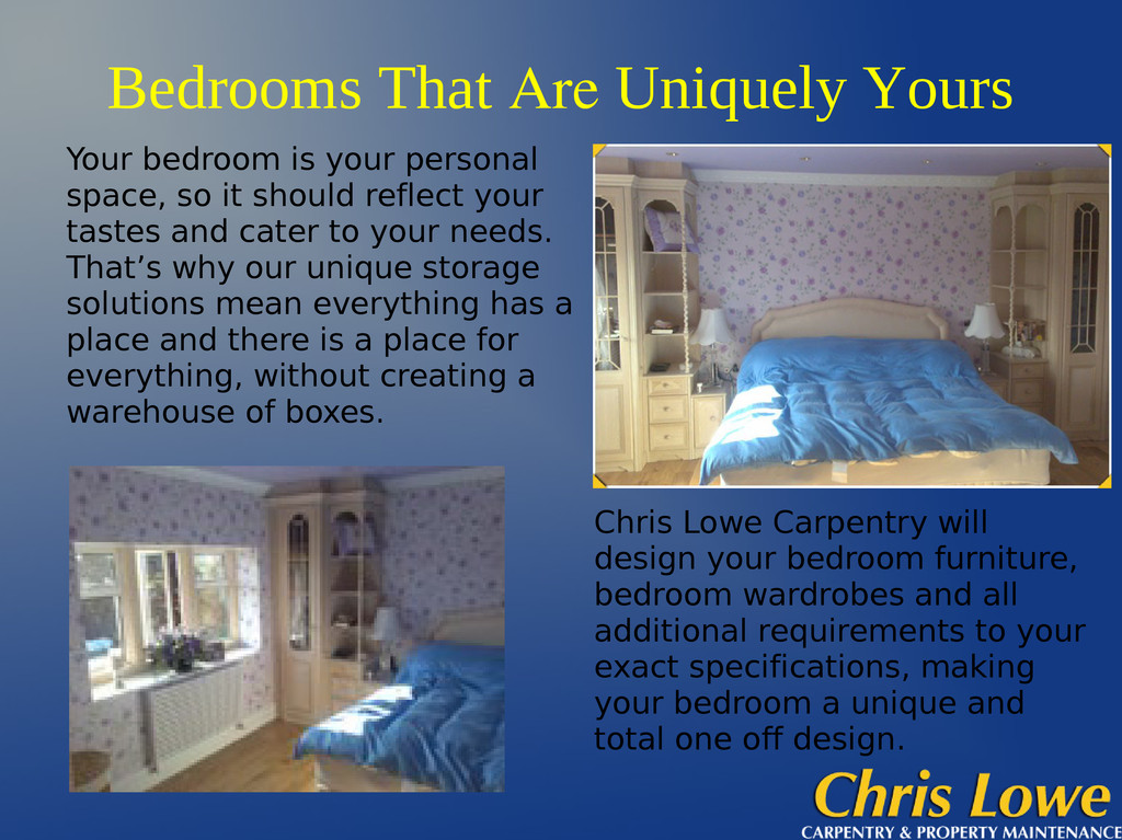 Bedrooms That Are Uniquely Yours Chris Lowe Car...