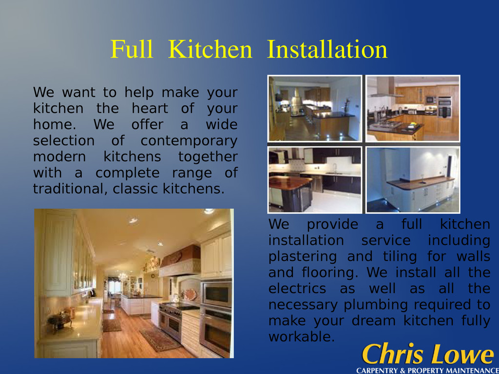 Full Kitchen Installation We want to help make ...