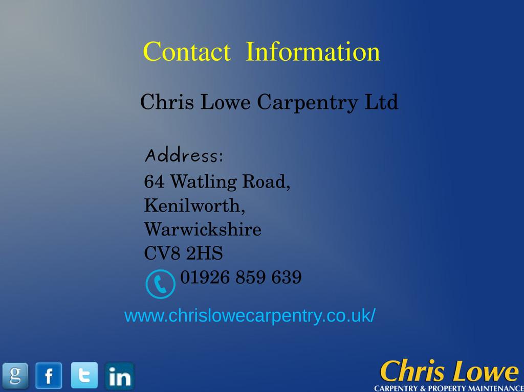 Contact Information Address: 64 Watling Road, K...