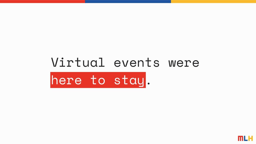 Virtual events were here to stay.