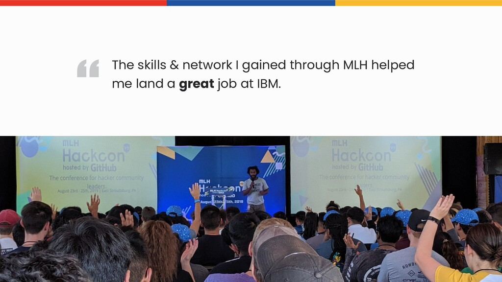 The skills & network I gained through MLH helpe...