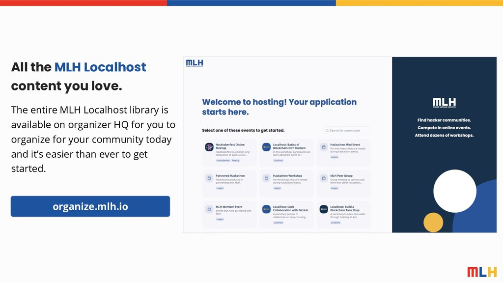 All the MLH Localhost content you love. The ent...